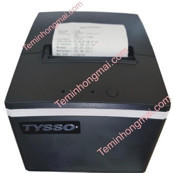 MÁY IN HÓA ĐƠN NHIỆT K80 TYSSO TS085 (USB, LAN, COM, 260MM/S)