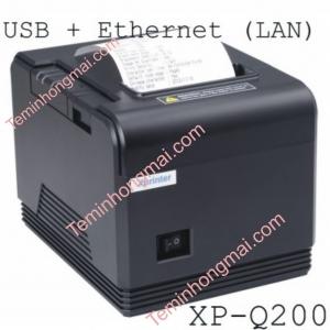 Máy in hóa đơn nhiệt Xprinter XP Q200 (80mm, dây USB+ mạng LAN)