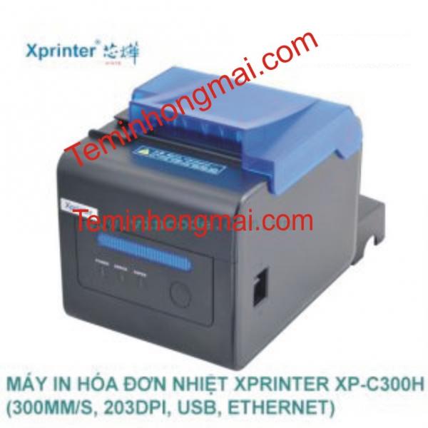 MÁY IN HÓA ĐƠN (IN BILL) NHIỆT GIÁ RẺ XPRINTER XP-C300H   (USB, ETHERNET, 203DPI)